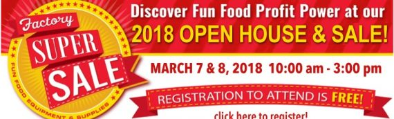 Factory Super Sale and Open House on March 7 & 8