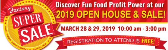 Factory Super Sale & Open House on March 28 & 29